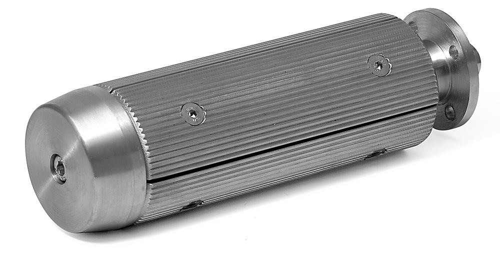 Spannwelle für 76mm Hülsen Schalen längs profiliert
