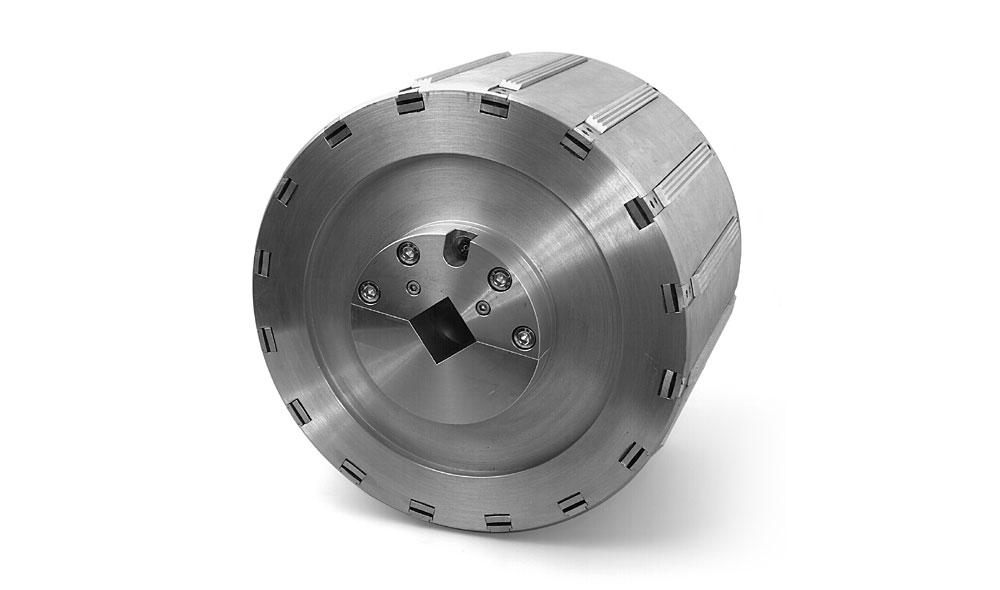 WISTEC Pneumatischer Spannkopf für Hülseninnendurchmesser von 350 mm,16 Stück Spannleisten am Umfang