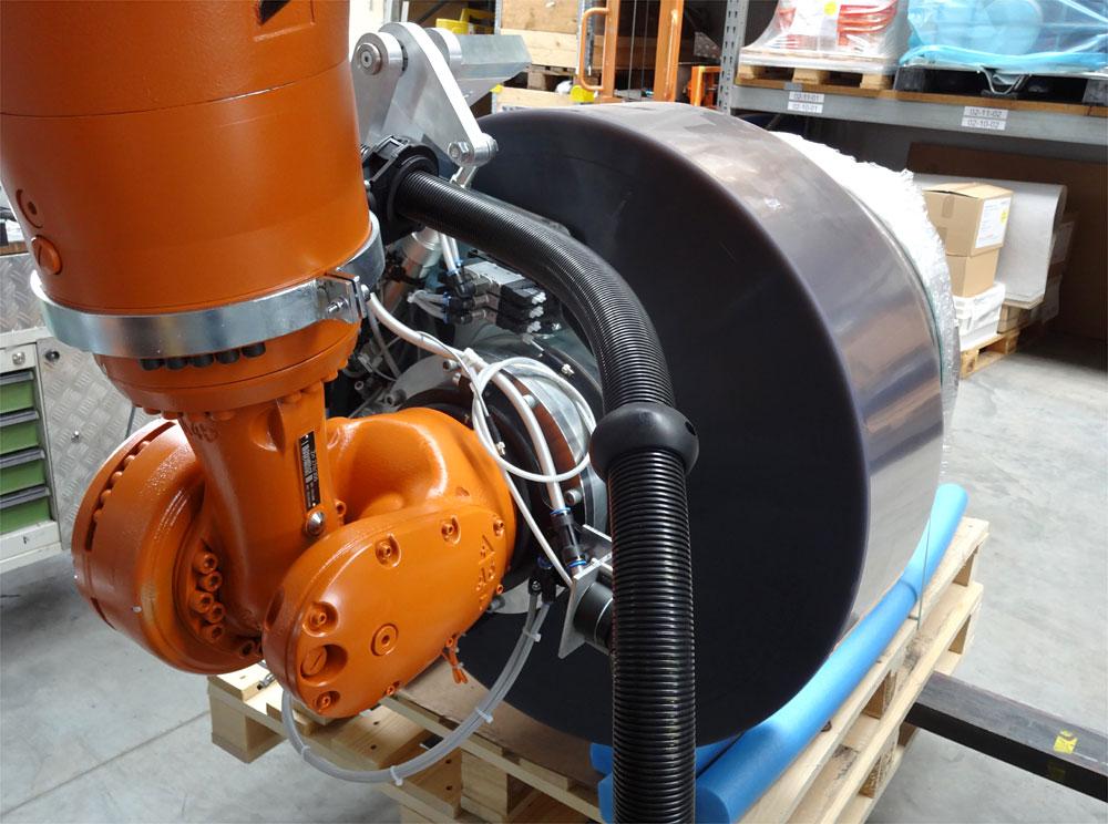 Robotergreifer- Typische Einsatzbedingung für WISTEC Spanndorngreifer