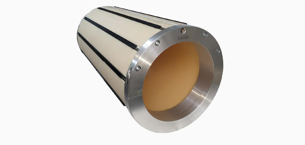 WISTEC Adapter von Ø 300 mm auf Ø 400 mm, Gewicht 38 kg, Länge 850 mm