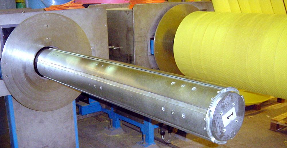 WISTEC pneumatisch-mechanische Spannwelle die Zylinder-Kolben-Systemen sind im Tragrohr montiert
