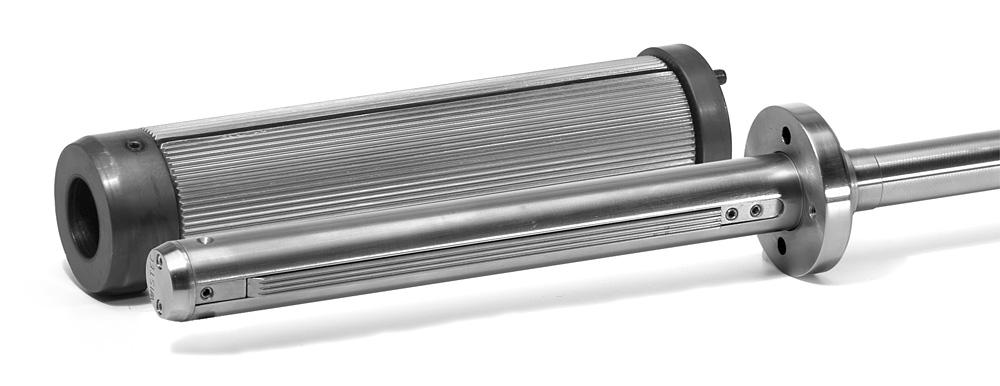 pneumatische Spannwelle für die Hülseninnendurchmesser 35 und Adapter für 65 mm
